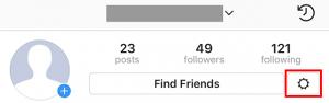 icona modifica opzioni instagram