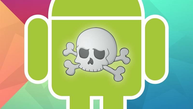 logo android scheletro virus