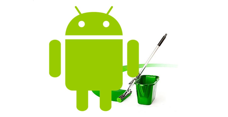 android smartphone robot scopa svuotare memoria