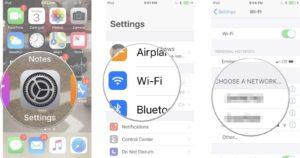 Condivisione password wifi iPhone passaggi