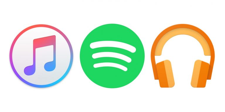 icona servizi musica streaming apple spotify google
