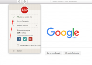 come disabilitare adblock plus sito web