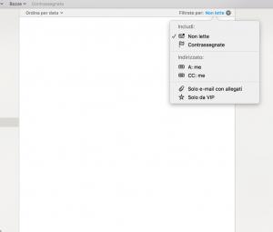 filtri messaggi posta mail osx apple