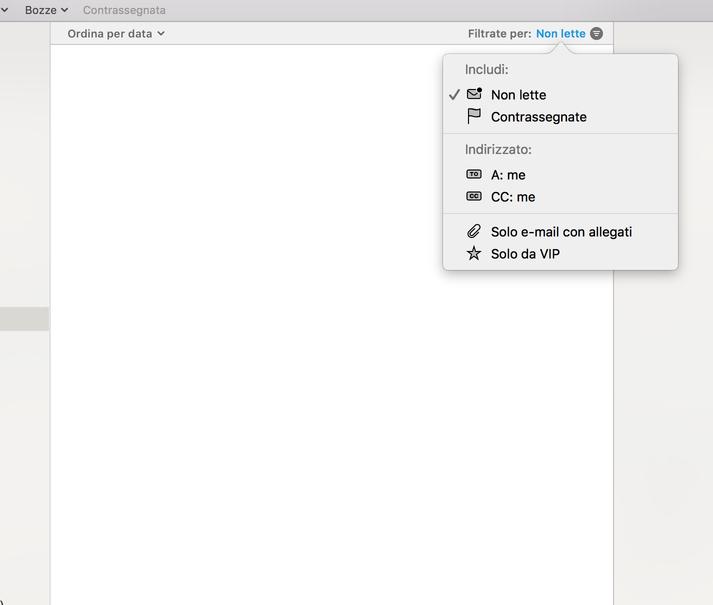 mail non funziona su mac