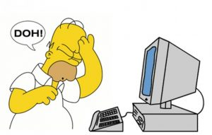 Homer Simpsons con il computer