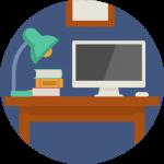 icona computer desktop fisso