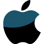 icona apple logo lucido