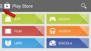 impostazioni play store android