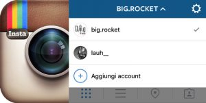 gestire account multipli instagram