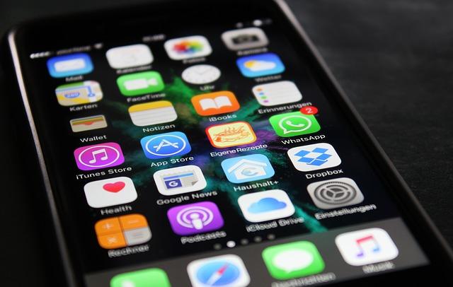 schermo iphone icone app