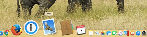 icona mail su mac apple