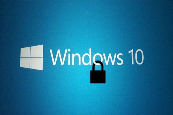 mettere in sicurezza windows 10 lucchetto