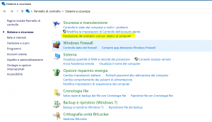 risolvere problemi windows update pannello controllo