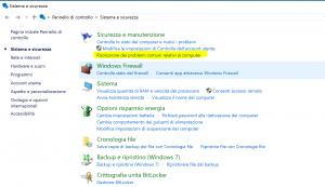 risolvere problemi windows update pannello controllo