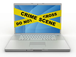 scena del crimine nastro su computer apple