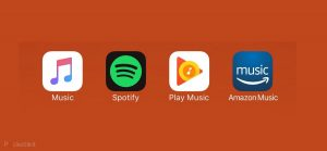 Spotify google play Apple Music amazon music unlimited logo