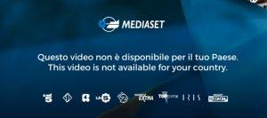 cartello diritti tv italiana estero Mediaset errore