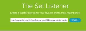 Importa playlist da setlistfm a spotify