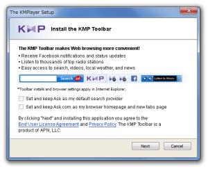 unchecky blocca adware di kmp player
