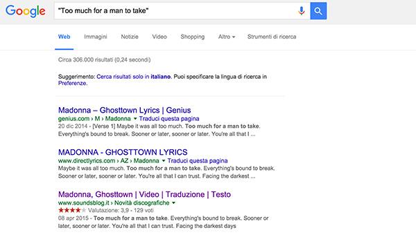 uso virgolette ricerca google