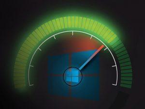 tachimetro velocità logo windows 10